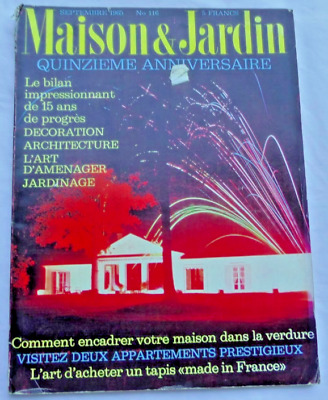 Maison & Jardin Interior Design French Magazine Sept 1965 | eBay