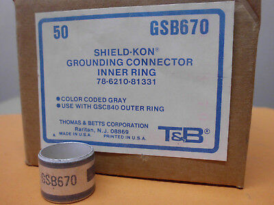 Gsb670 Up-To-Date Styling Neu/ovp Kabelkonfektion 50 X T&b Shield Kon Schirmanschlußringe