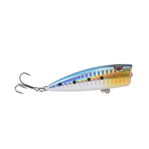 6.5cm 10g fishing lures hard baits artificial popper crankbait wobbler bait 2/_VG