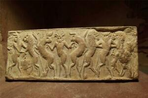 Sumerian-cylinder-seal-impression-Master-of-animals-Museum-replica