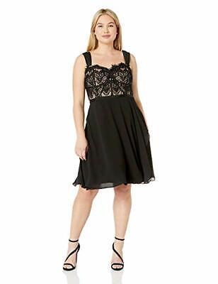 City Chic 00111795 Plus Size Semi-Formal Fit & Flare Dress /Black /16W  (Small). | eBay