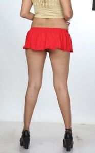 fc4cc2e12eecd5 Just Short Skirt 8 inch Red Divas Micro Mini Skirt Stretchy Women ...