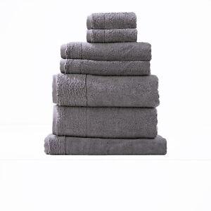 Renee Taylor Aireys 650 GSM Zero Twist 14 Piece Snow Bath TowelSheetsPack