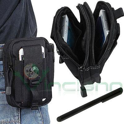 Iniziativa Custodia Borsa Marsupio Sacchetto Cintura+pennino Stylus Per Smartphone Bcs5