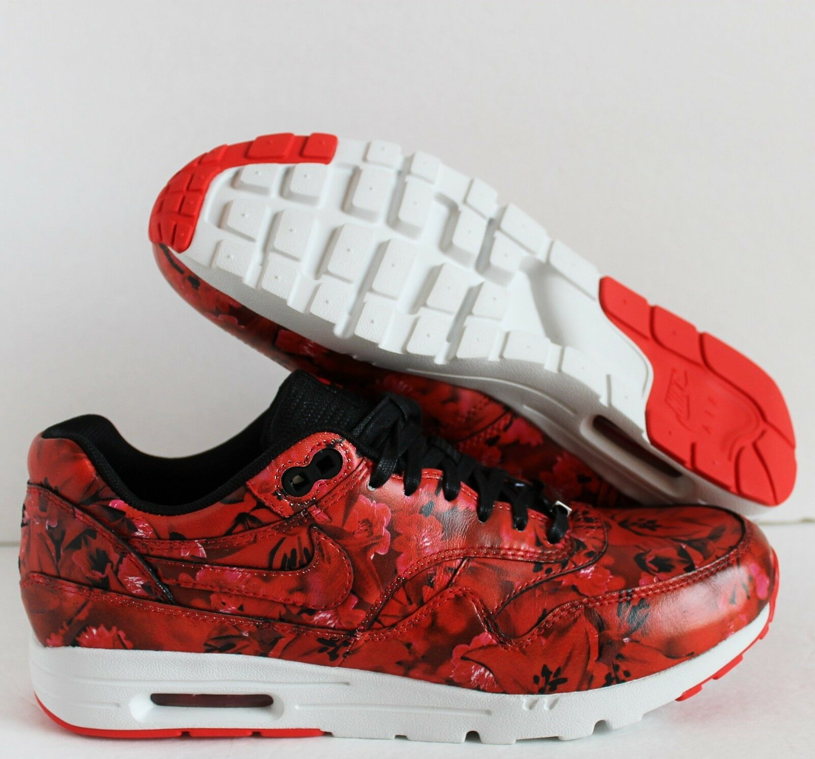 Nike Air Max 1 ULTRA LOTC QS SHANGHAI CITY PACK Red sz 8.5 FLORAL [747105-600]