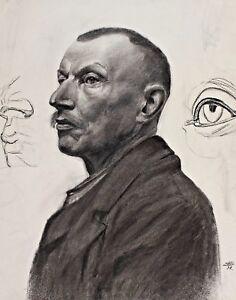 Monogrammiert-AS-oder-SA-Datiert-98-Portrait-eines-Mannes