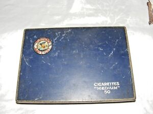 VINTAGE-COLLECTABLE-PLAYERS-NAVY-CUT-CIGARETTE-TIN-50-MEDIUM