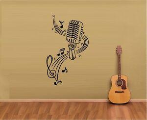Music Notes Sheet Music Microphone Vinyl Wall Decal Sticker Home Art Decor Ebay