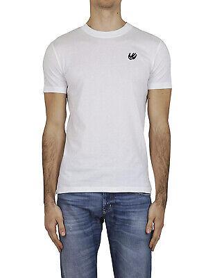 Authentic Men Swallow print T-shirt  Gray