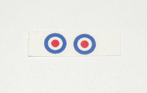 "#278A Dinky 642 RAF Pressure Refueler Roundel Decals 5mm /""British Insignia/"""