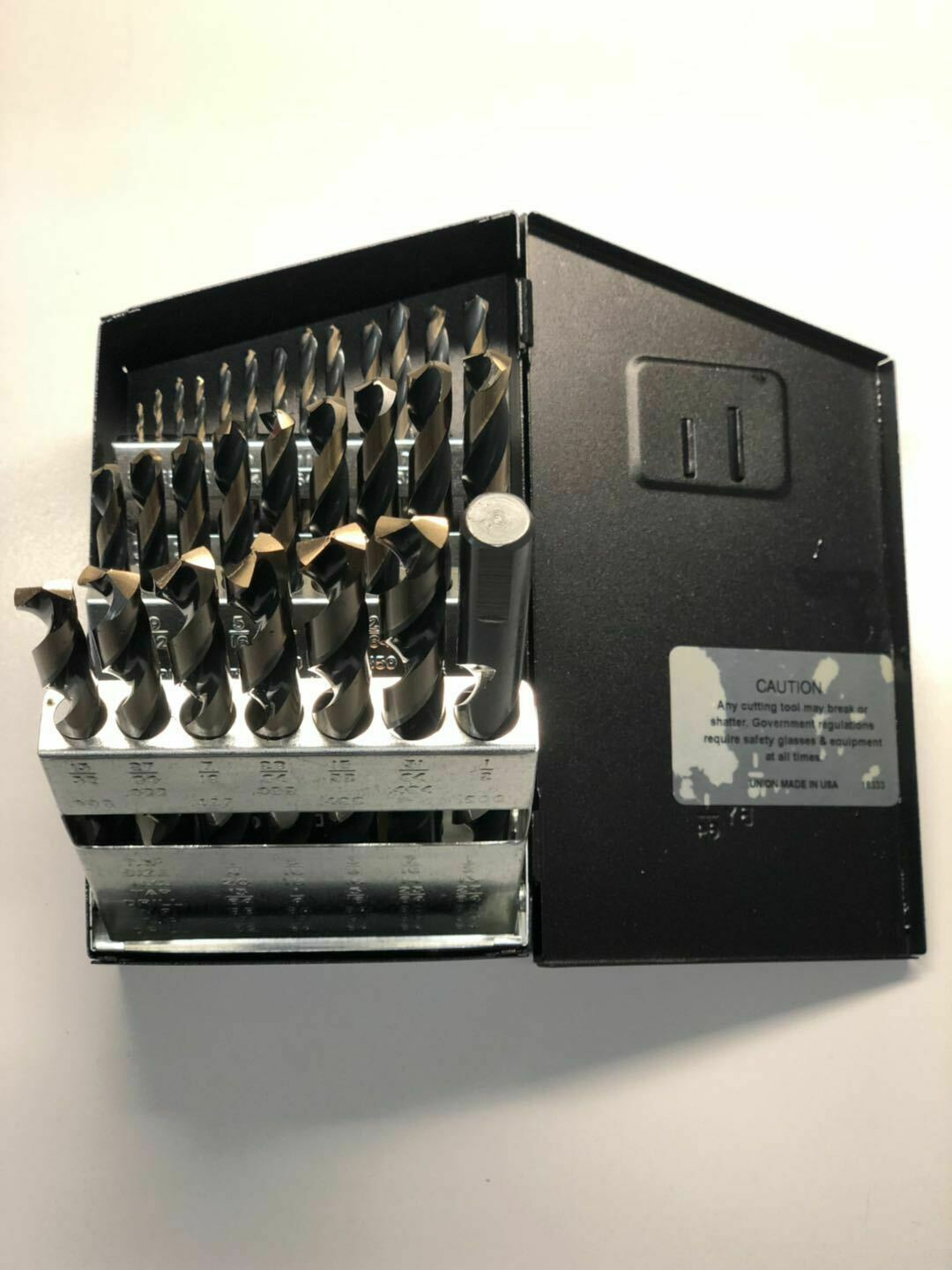 29pc Drill Bit Magnum Jobber Drill Set Tri-Flat Professional Tool Huot USA Box