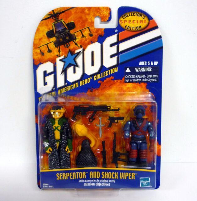 SERPENTOR AND SHOCK VIPER G.I. Joe Action Figures MOC COMPLETE 2002
