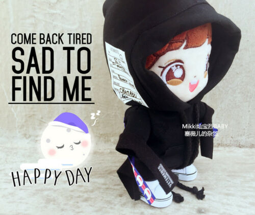 Hand-made Kpop EXO XOXO Park Chanyeol Doll Clothes Shoulder strap Hoodie Cool Be