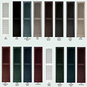 Vinyl Shutters, Cathedral Louver Exterior, 25\