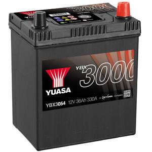 YUASA Autobatterie Asia 36Ah 330A 12V Dünn + Normal Pol Pluspol rechts YBX3054