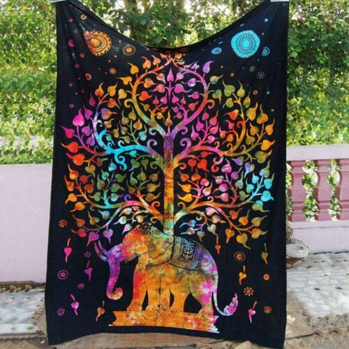 Mandala Indian Wall Hanging Tapestry Beach Bohemian Throw Bedspread Home Decor