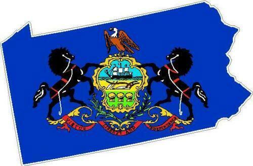 PA State Flag Vinyl Sticker Decal Pennsylvania outline silhouette