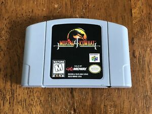 Mortal-Kombat-4-Nintendo-64-N64-Fighting-Game-Cart-Authentic-TESTED-Works-Great