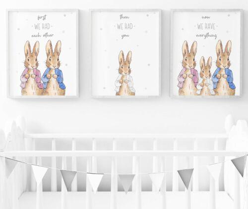 Peter Rabbit Nursery Decor Peter Rabbit Nursery Wall Art Prints Set Of 3