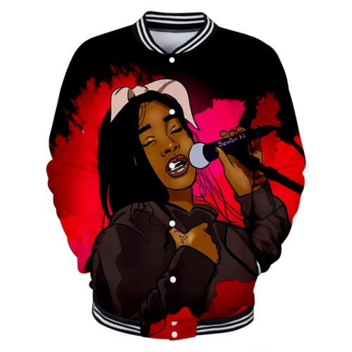 Singer Summer Walker Men Women Baseball Uniform Coat Pullover Tops Shirt Jacket