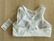 Athleta Reverse Layering Mesh Crop White Sz S Sports Bra Wireless NWT $64 307482