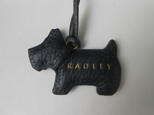 74006a9382 Image is loading Radley-Grain-Leather-Dog-Tag-Handbag-Charm-Black-