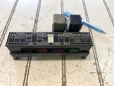 Datsun 720 Caja de Fusible 81 82 con cubierta   eBayeBay