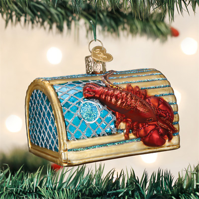 Lobster Glass Blown Ornaments for Christmas Tree 12128 Old World Christmas Ornaments