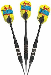 Comix-Black-Coated-Soft-Tip-Dart-Set-18-grams-20-2202-18-Darts-flights-shafts