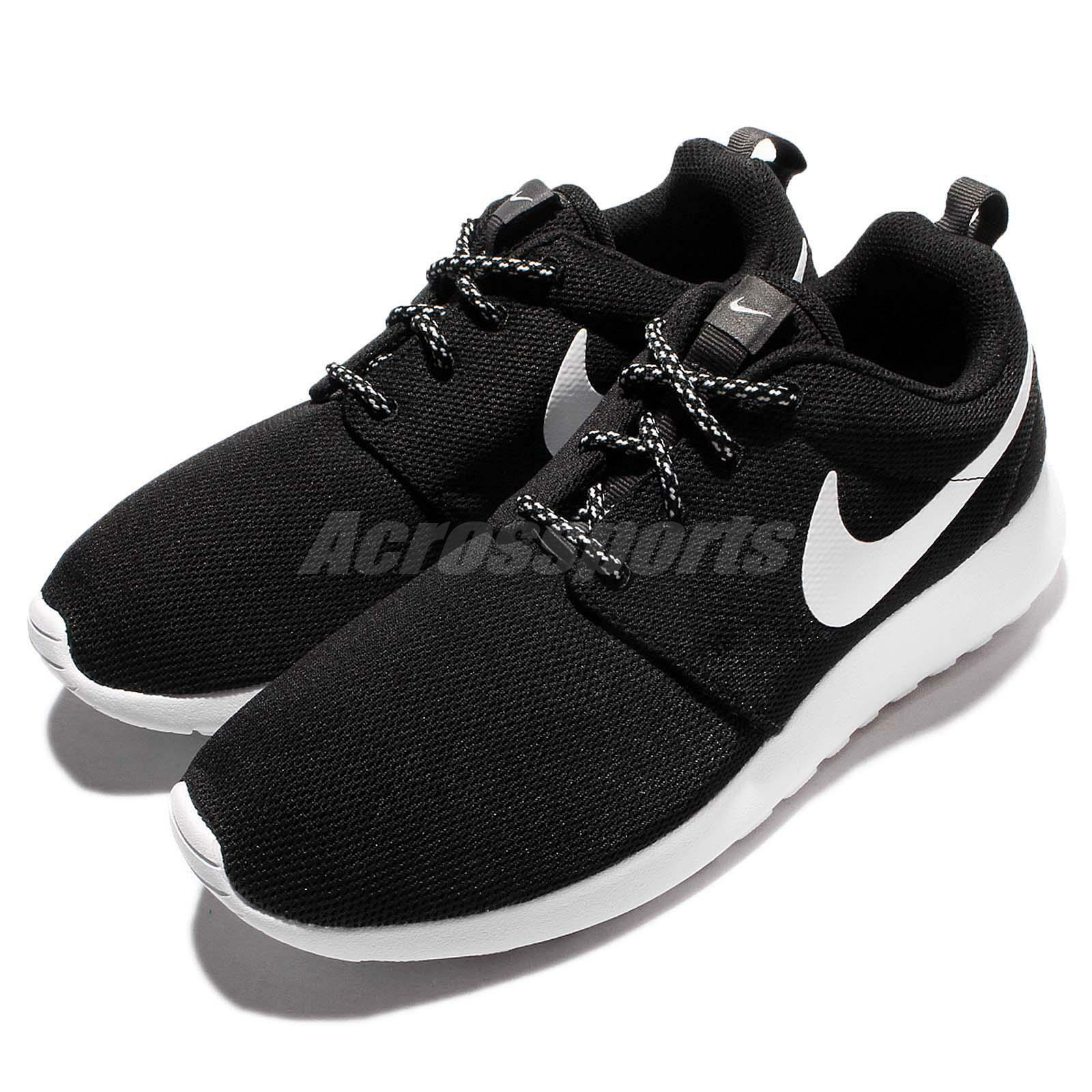 Wmns Nike Running Roshe One Black White Rosherun Women Running Nike Shoes Sneakers 844994-002 9a4838