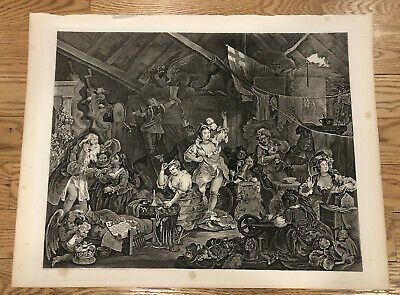 William Hogarth Fine Art Print Strolling Actresses Print Reproductions