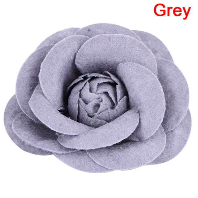 dbe9e1ae3 Camellia Flower Pin Brooches Craft Party Cloth Women Brooch Jewelry ...