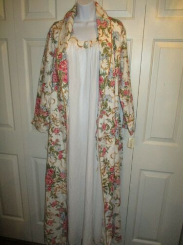 NWT Vintage 2-PC 80's MARY MCFADDEN Floral Robe &