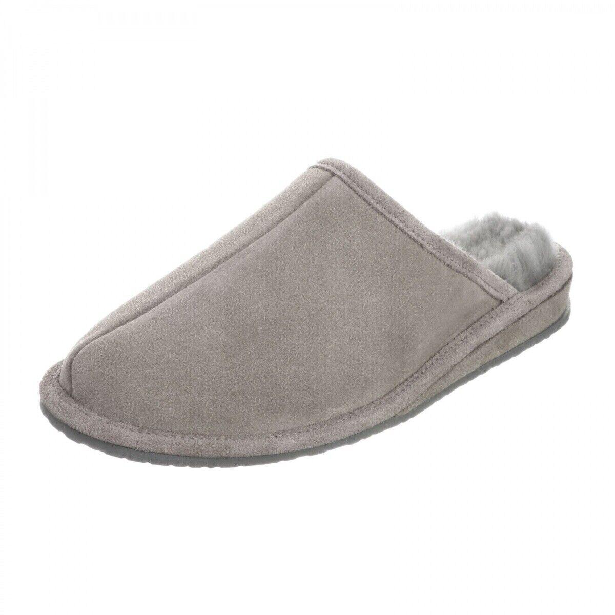 Men/'s Brown Soft Sheepskin Lambskin Fur Slippers KATZ Leather Warm Size 8 NEW