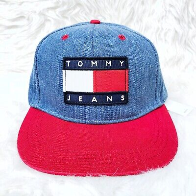 NWT Tommy Hilfiger Jeans Patch Denim Snapback Hat Urban Outfitters Exclusive NEW