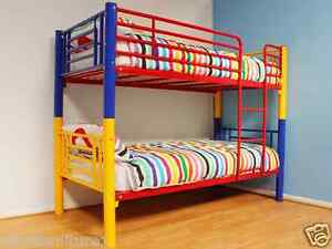 Image Is Loading Rainbow Metal Bunk Bed Multi Coloured Frame 3FT