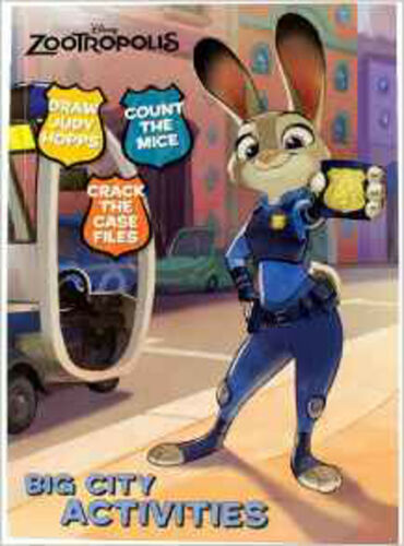 1 of 1 - Disney Zootropolis Big City Activities, New, Parragon Book