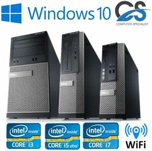 Fast Cheap Dell OptiPlex i3 i5 i7 MT Desktop SFF 8GB 500 Windows 10 PC Computer