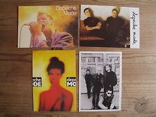4 DEPECHE MODE / Dave Gahan postkarte postcard Sammlung  collection rare 80ties