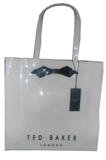 5cbf491c93 Ted Baker Slim Bow Icon Bag Large SHOPPER Ivory Cream Black 100 ...