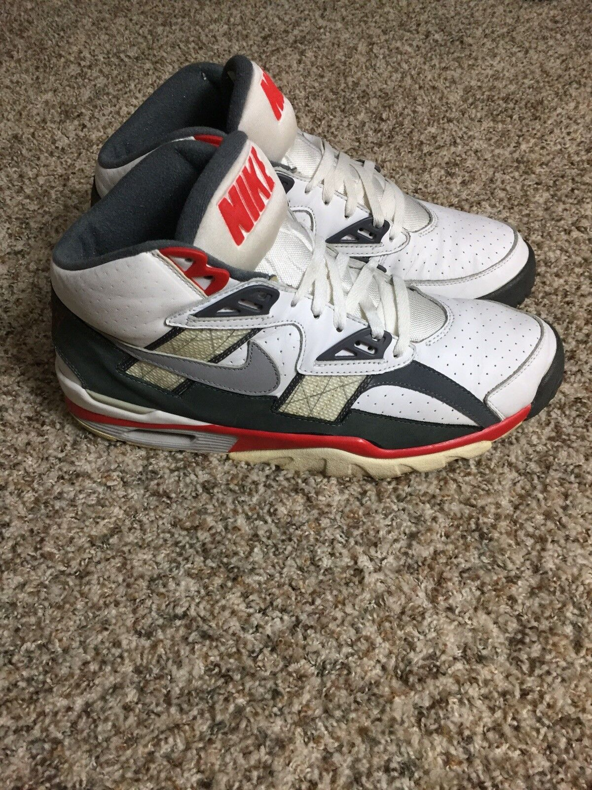 Mens Nike Air Trainer SC High Bo Jackson 2000 White Comet Red 673185 106 Size 13