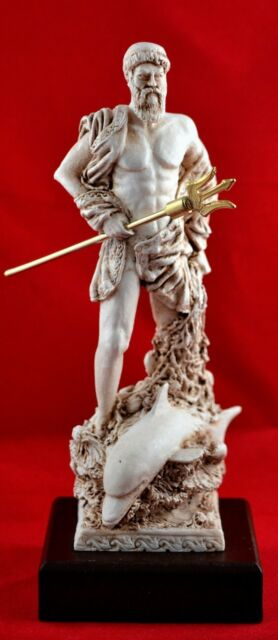 Poseidon and Dionusys greek statue sea god NEW