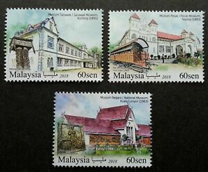 SJ-Malaysia-Historical-Museums-2018-Train-Coach-Antique-History-stamp-MNH
