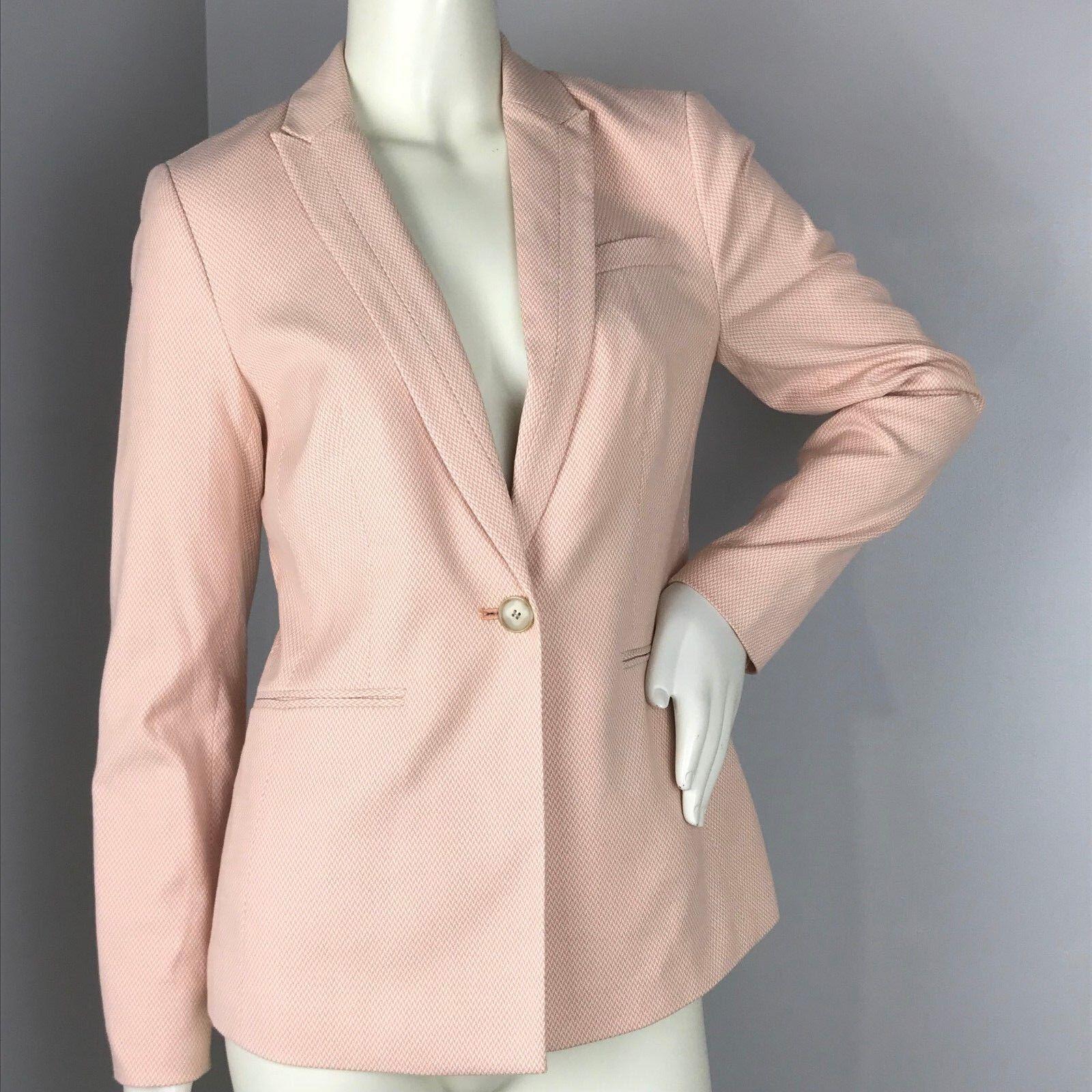 Talbots Peach White One Button Blazer Size 2