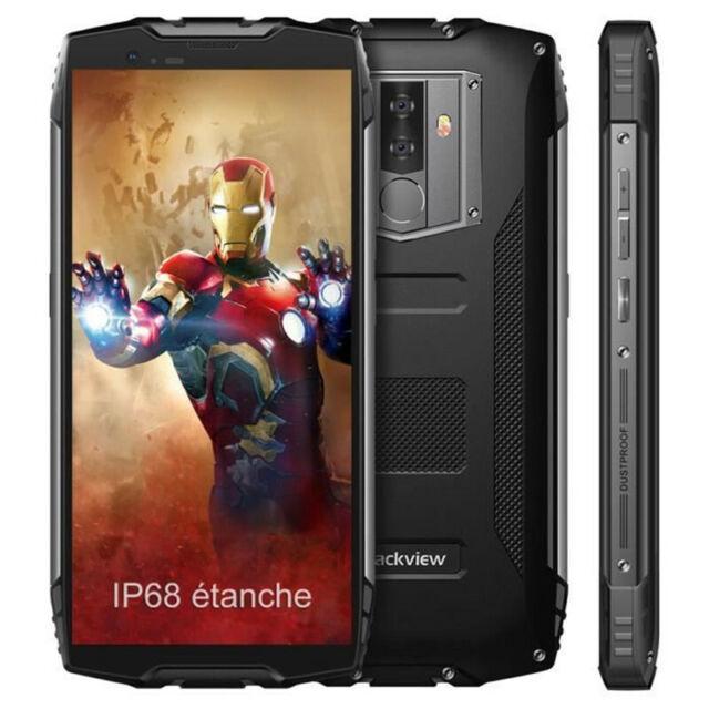Débloque Blackview BV6800 Pro 4+64GB Smartphone IP68 Etanche Téléphone Noir 16MP