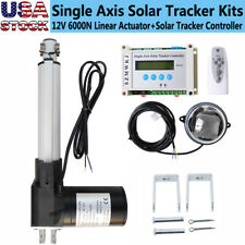 6 6000n Linear Actuator Lcd Controller Diy Single Axis Solar Tracking Tracker