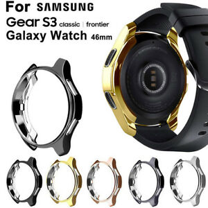 For Samsung Galaxy Watch 46MM/Gear S3 Classic Electroplate Protector Case Cover
