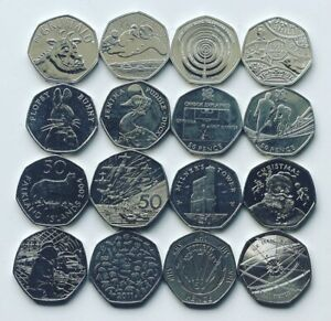 Rare 50p Coins Royal Mint Olympic Beatrix Potter Kew Isle of Man WWF Fifty Pence