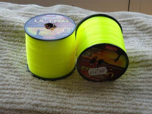 917 mt 0.36 MM diameter 1 X Spool of ASSO Ultra Cast Fluorocarbon 20lb £12