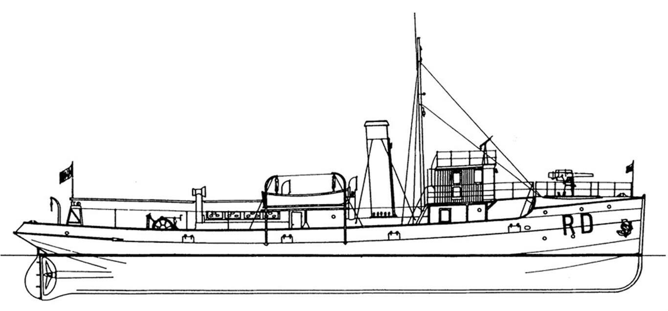 RD 7-12 Minensucher. Italien 1918 Bauplan ANB Bologna  | Bekannt für seine hervorragende Qualität